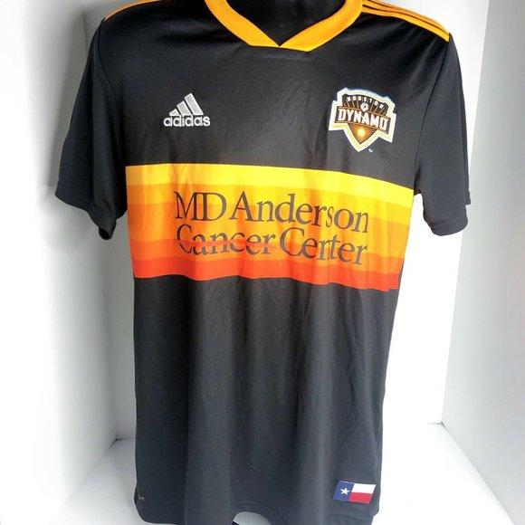 2020 Adidas Houston Dynamo MLS Black Away Jersey M